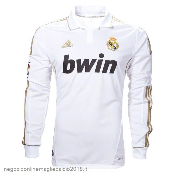Home Online Manica lunga Real Madrid Retro 11 12 Bianco