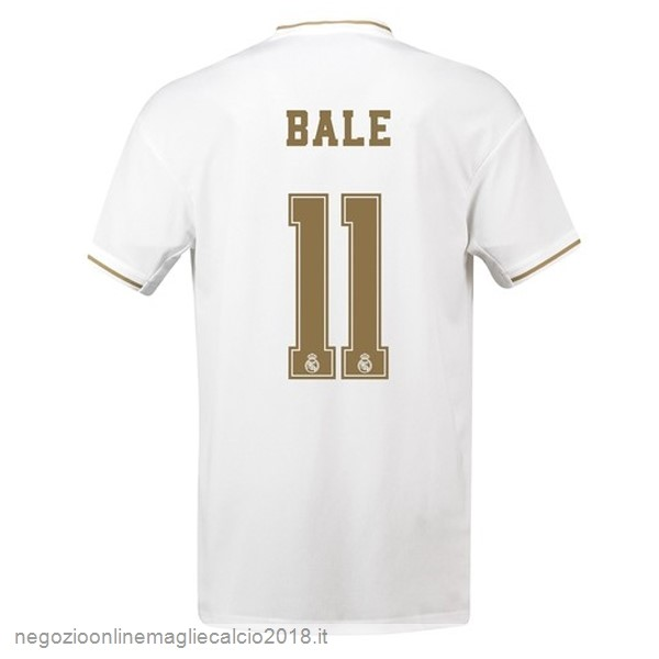 NO.11 Bale Home Online Maglie Calcio Real Madrid 2019/20 Bianco