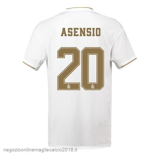 NO.20 Asensio Home Online Maglie Calcio Real Madrid 2019/20 Bianco