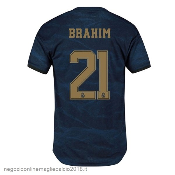 NO.21 Brahim Away Online Maglie Calcio Real Madrid 2019/20 Blu