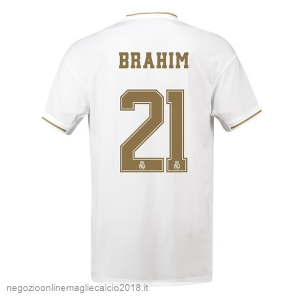 NO.21 Brahim Home Online Maglie Calcio Real Madrid 2019/20 Bianco