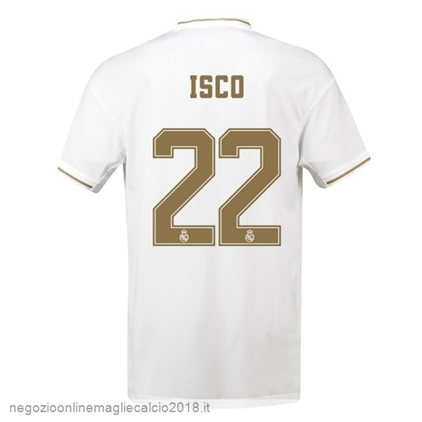 NO.22 Isco Home Online Maglie Calcio Real Madrid 2019/20 Bianco